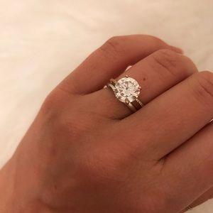3ct CZ Gold Diamond Engagement Ring